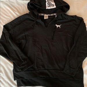 PINK brand v neck hoodie
